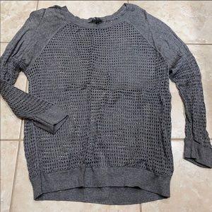 Dark Gray Express Lightweight Sweater